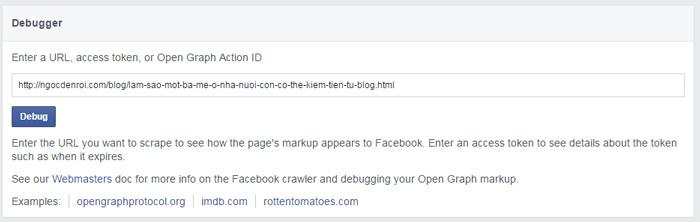 huong dan su dung cong cu Facebook Open Graph Tool