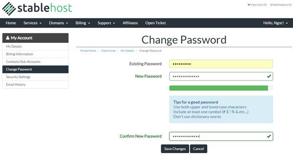 Cach doi password tren host