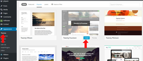 thay doi theme wordpress