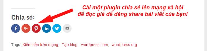 cai plugin chia se bai viet len MXH tai wordpress