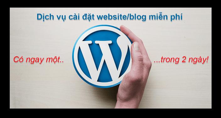 dịch vụ cài đặt website blog wordpress miễn phí