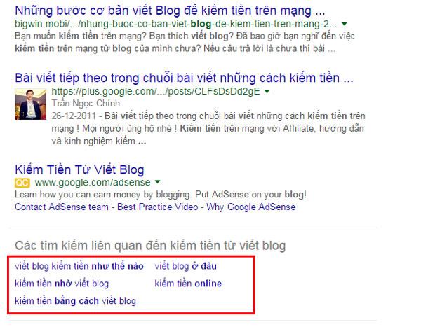 tu khoa lien quan google goi y