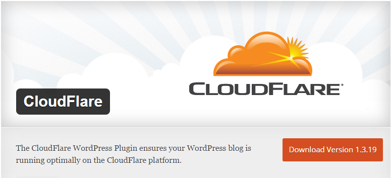 cai dat CloudFlare WordPress Plugin