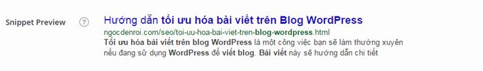tou uu hoa bai viet tren blog wordpress bang cach dat tu khoa trong tam trong tieu de bai viet