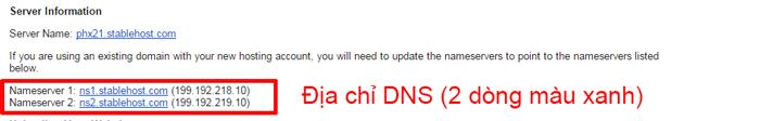 Dia chi DNS cua host