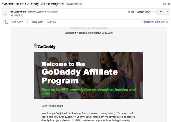 cách tham gia chương trình affiliate của godaddy