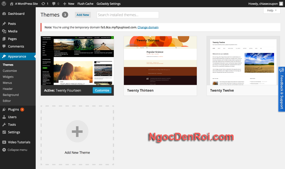 cai theme cho wordpress