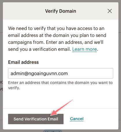 cách xác minh tên miền với mailcheap