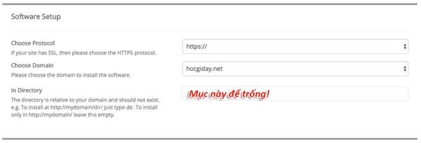 cài đặt blog wordpress
