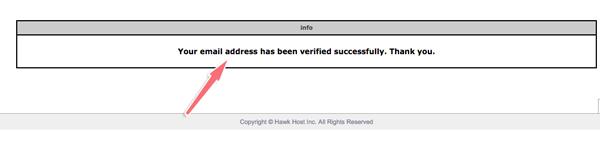 verify tên miền thành công