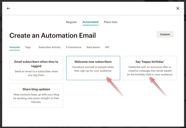tạo chiến dịch email tự động