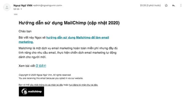 làm email marketing bằng mailchimp