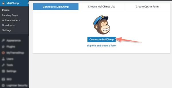 tích hợp form đăng ký email từ mailchimp