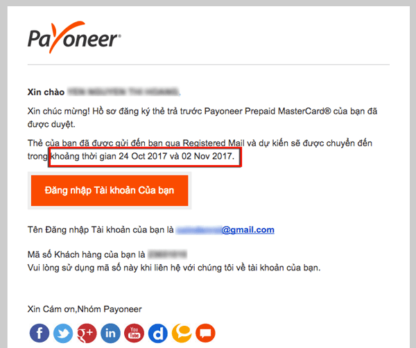 cach yeu cau ship the payoneer