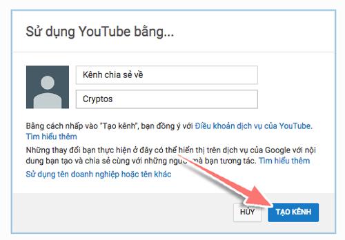cach tao kenh youtube
