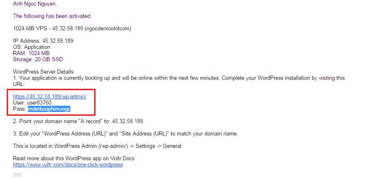 cách cài đặt website wordpress trên vps