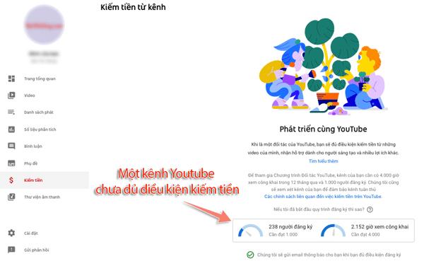 điều kiện bật kiếm tiền cho kênh youtube