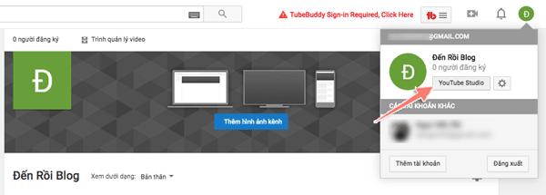 cài đặt kênh video youtube