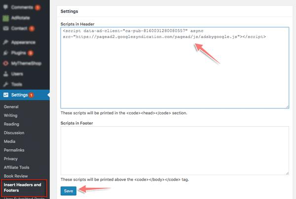 cách dán mã quảng cáo google adsense vào html trên website