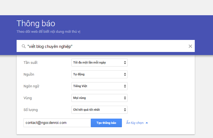 hướng dẫn sử dụng google alerts hiệu quả