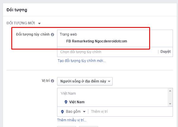 Cách tạo quảng cáo remarketing trên Facebook