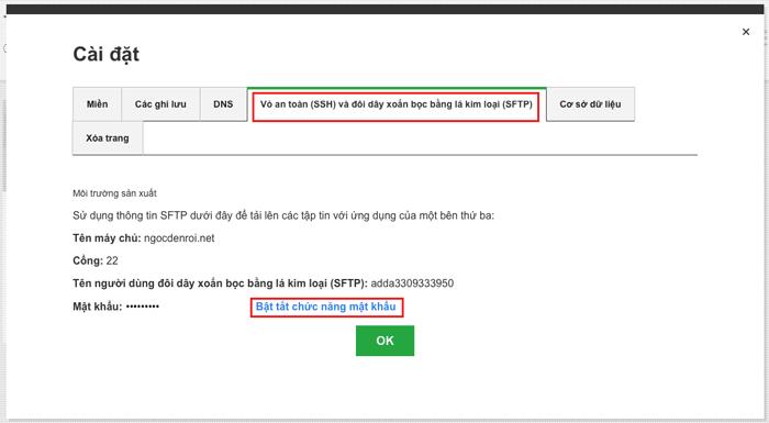 Cách lấy thông tin đăng nhập sFPT trên godaddy hosting