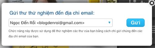 gui thu nghiem email
