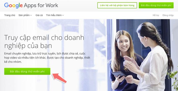 tạo email tên miền riêng với Google Apps