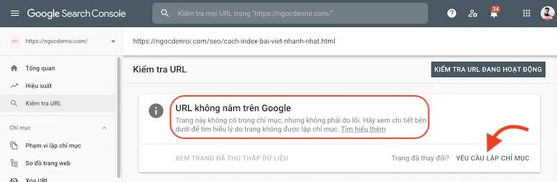 cách ép google index bài viết nhanh