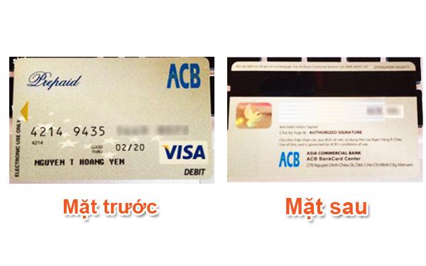 thẻ visa của ngân hàng ACB