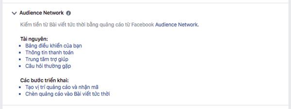 bật kiếm tiền từ quảng cáo trên Facebook instant articles