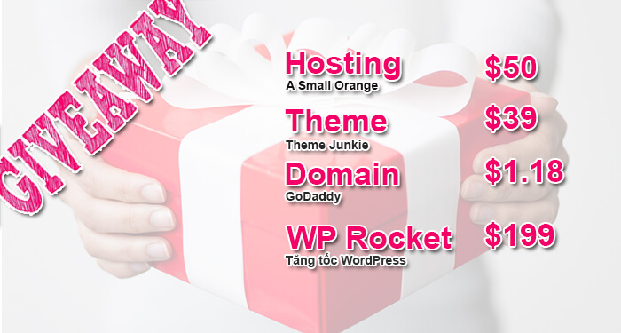 giveaway tặng free website
