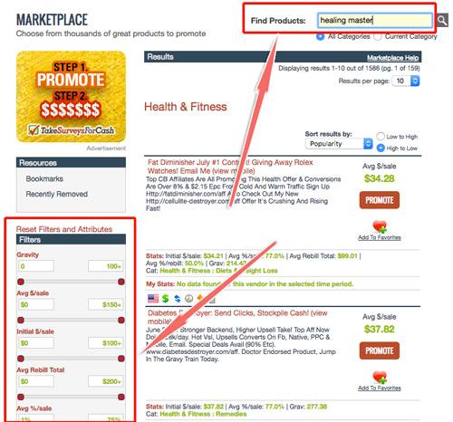 cách chọn sản phẩm trên clickbank