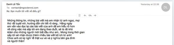 email tư đọc giả