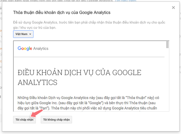 chen ma google analytics vao wordpress
