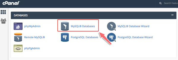 tạo database trên host cPanel