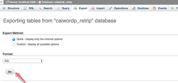 sao lưu database