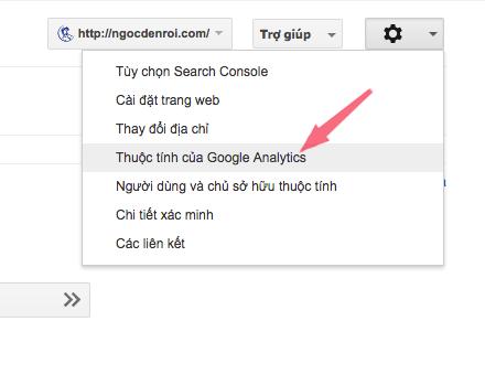 cach lien ket google analytics voi google console
