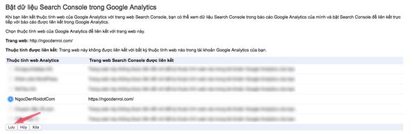 liên kết google analytics với google webmaster tool