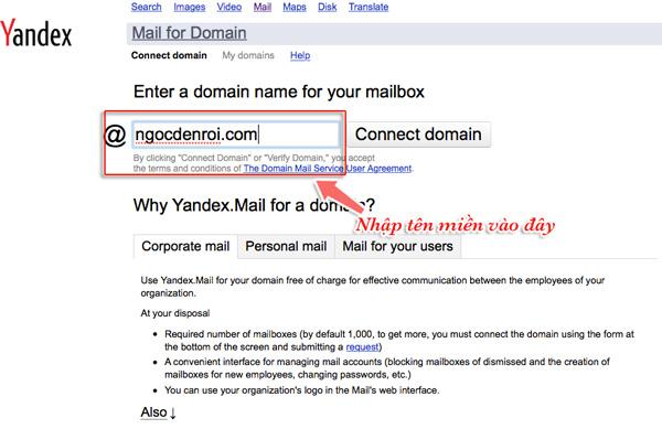 hướng dẫn tạo email tên miền riêng miễn phí