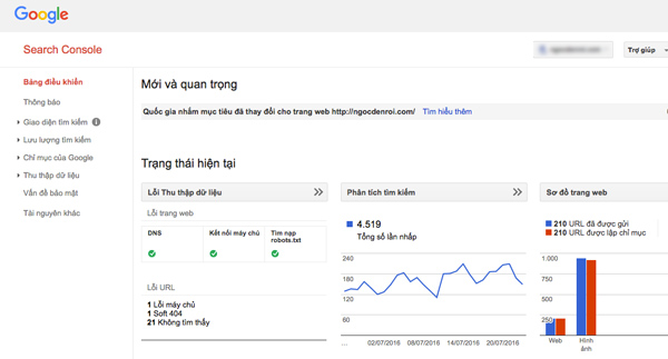 huong dan them google Search Console cho wordpress