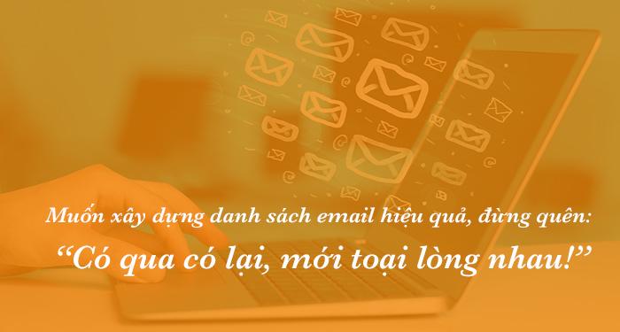 Chiến lược xây dựng danh sách email hiệu quả