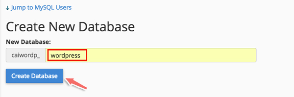 tạo database