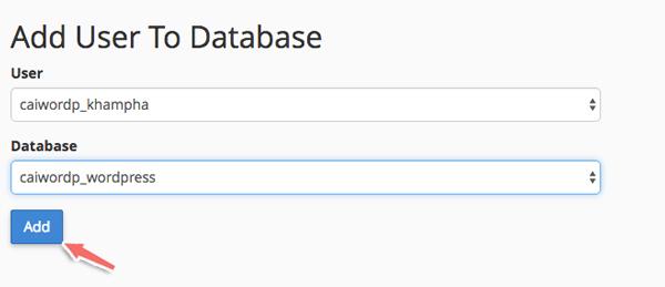 cap quyen cho database