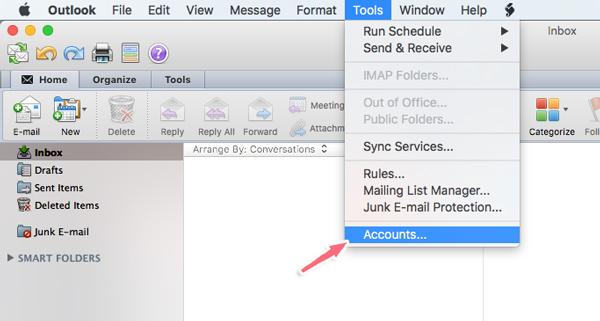 cấu hình nhận mail trên outlook