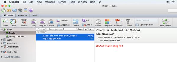 gửi nhận mail trên outlook
