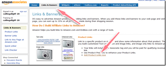 cach lay link affiliate amazon