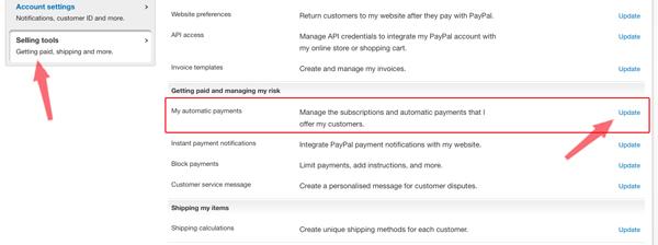 cách huỷ thanh toán tự động trong paypal