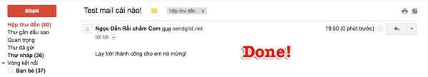 gửi email trong wordpress với sendgrid
