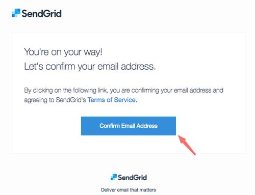 xac nhan email de su dung sendgrid